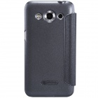 NILLKIN Protective PU Leather + PC Flip Open Case for Samsung Galaxy CORE Max - Black