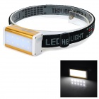HY902 100lm 2-Mode White Light 10-LED Multifunctional Headlight Headlamp - Gold + White + Black