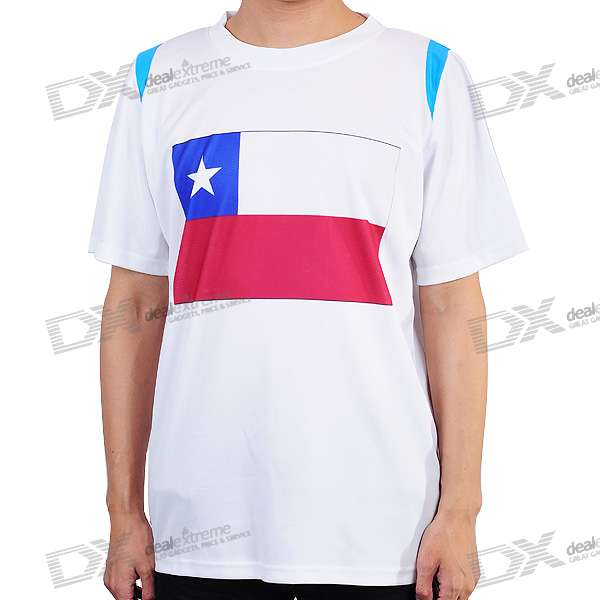 National Football/Soccer Team T-Shirt - Chile (XL-Size)