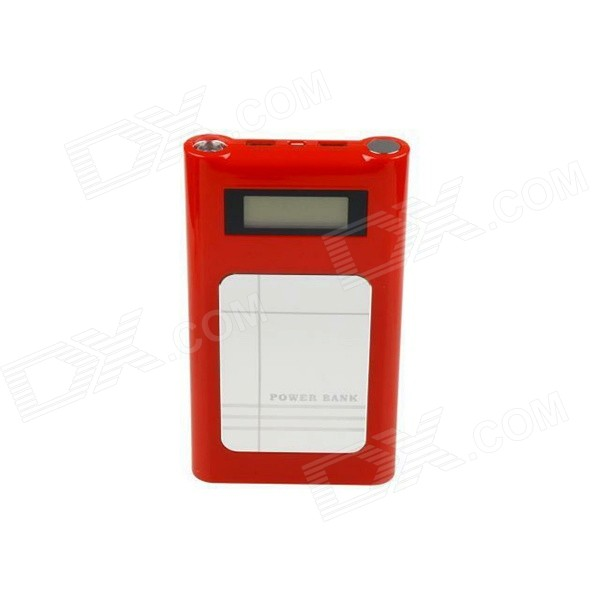 Dual USB Output 18000mAh Power Bank w/ Torch + 3G Router - Red
