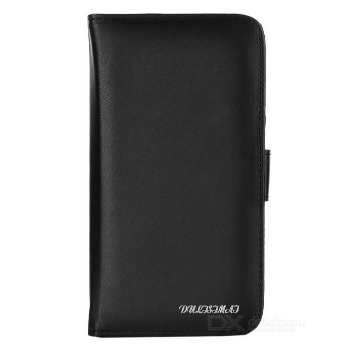 dulisimai stilig PU + PC flip-open tilfellet for iPhone 6 Plus - svart