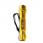 UltraFire 10W 800lm 5-Mode Warm White LED Memory Flashlight - Golden