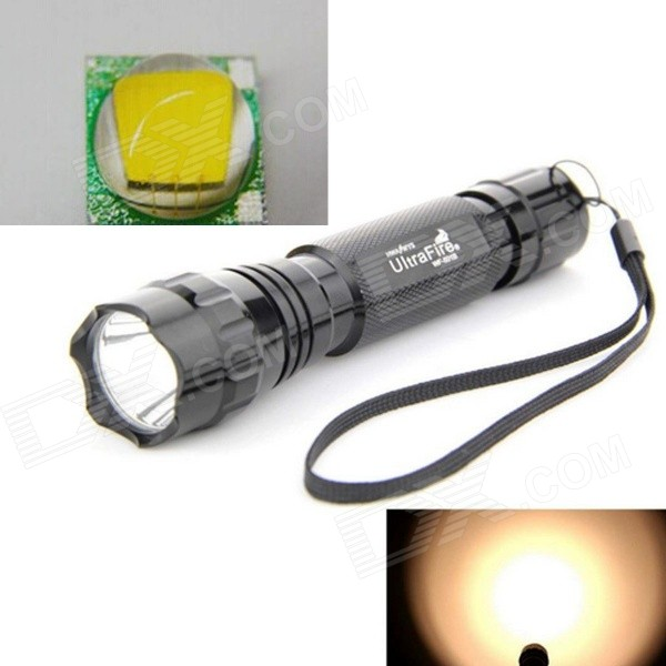UltraFire 10W 800lm 5-Mode Warm White LED Memory Flashlight - Black
