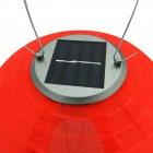 3-LED Light Control Handmade Solar Lantern - Red (2PCS)