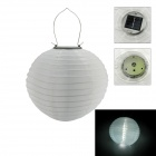 IN-Color Traditional Chinese Lamp Style 3-LED Light Control Handmade Solar Lantern - White (2PCS)