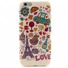 "Love in Paris Pattern Protective TPU Soft Back Case for IPHONE 6 4.7"" - Multicolored"