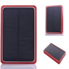 SP0024 Solar Powered 8000mAh External Battery Charger Power Bank for IPHONE / Samsung / HTC - Red
