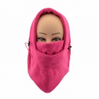 QingFang Multifunction Thickened Polar Fleece Warm Wind-proof Neck / Face Protective Hat - Deep Pink