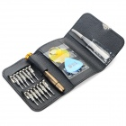BEST BST-633B Wallet Style Multi-Function Repair Tools Set for IPHONE / Samsung - Black