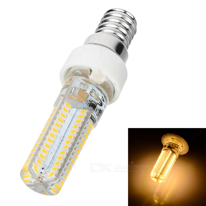 JRLED G4 7W 500lm 104-SMD 3014 Warm White Bulb w/ E14 to G4 Adapter