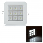 ZD-GS91D 9W 100lm 9-LED White Light Grille Ceiling Lamp
