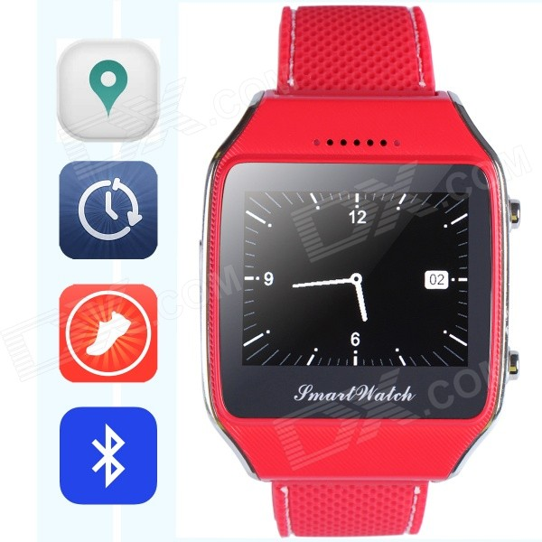 "Aoluguya 103V GSM Smart Watch Phone w/ 1.65"", GPS, BT, Pedometer, Anti-lost, Remote Shutter - Red"