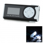 "1.0"" OLED Display MP3 Player w/ Torch / Clip / TF / Mini USB / 3.5mm - White + Black"