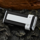 "1.0"" OLED Display MP3 Player w / Tocha / Clip / TF / Mini USB / 3.5mm - Branco + Preto"