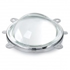 JR-LED 77mm Glass Lens + Reflector + Aluminum Alloy Holder Set for 20~100W LED Lights - Silver