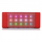 B-16 Bluetooth V2.0 Speaker w/ FM / Colorful LED Light / Mic / TF / 3.5mm / USB 2.0 - Red