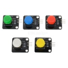 DIY Button Switch Module w/ Cap for Arduino (5 PCS / Works with Official Arduino Boards)