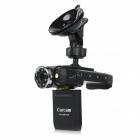 "K3000 2.0"" LCD Screen HD CMD 140' Wide-Angle 8-LED IR Night Vision Car DVR Camera Camcorder - Black"