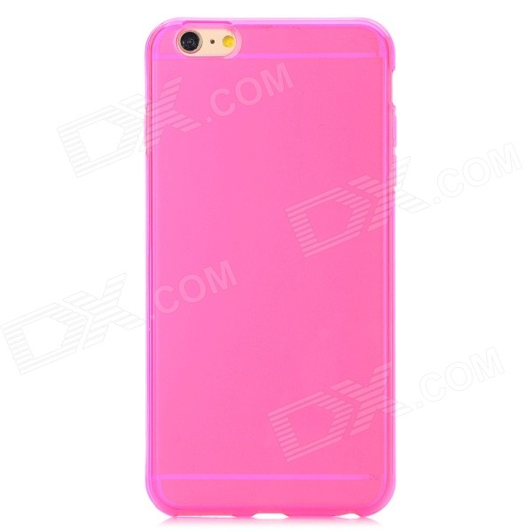 Back Case + Screen Guard for IPHONE 6 PLUS - Transparent + Deep Pink