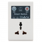 10A Cell Phone Remote Control Smart Switch Socket w/ 3-Flat-Pin Plug - White (110~220V)