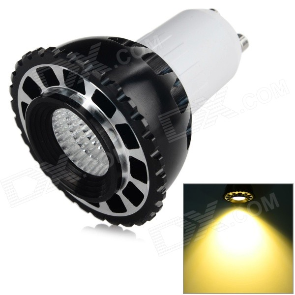 GU10 3W 250lm 3500K COB Warm White Light Bulb - Black + White (AC 85~265V)