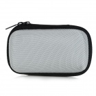 Portable Shock-resistant Zippered Storage Case Pouch for In-Ear Earphones + MP3 + More - Silver