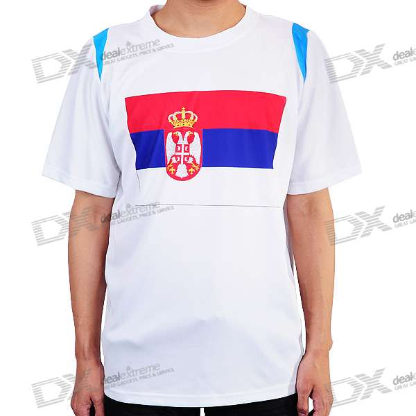 National Football/Soccer Team T-Shirt - Serbia (XXXL-Size)