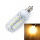 Marsing E14 Cross Design 8W 800lm 3500K 48xSMD 5730 LED Warm White Light Bulb Lamp (AC 220~240V)