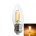 Zweihnder E27 4W 380LM 3500K LED Filament Warm Light Candle Lamp