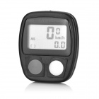"SAHOO Water Resistant 1.3"" LCD 14-Function Wired Bicycle Stopwatch - Black (1 x LR44)"