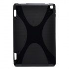 """X"" Pattern Non-Slip Protective TPU Back Case for Amazon Kindle Fire HD 7 - Black"