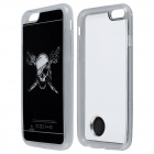 Pirate Skull Pattern ABS Back Case w/ LED Flash Light for IPHONE 6 - Black + White