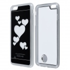 "Love Heart Pattern ABS Back Case w/ LED Flash Light for IPHONE 6 Plus 5.5"" - Black + White"