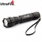 Ultrafire WF-501B 1-LED 900LM 1-Mode Cool White Light Flashlight - Black (1 x 18650)
