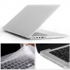 "Mr.northjoe 3-in-1 PC Matte Case + Keyboard Cover + Dust Plugs for RETINA MACBOOK PRO 13.3"" - White"