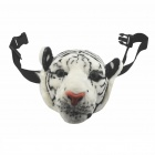 Emulational Tiger Head Style Zippered Waist Pack Bag - White + Black (2.5L)