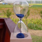 WB-9PIG Creative Blooming Magnet Hourglass - Transparent + Blue