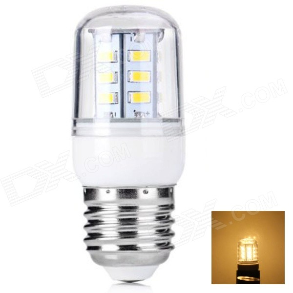 E27 5W 400lm 24-SMD 5730 LED Warm White Light Corn Lamp(AC 220~240V)