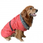DM30072-3 Fashionable Thickened Warm Water-resistant Jacket for Large Pet Dog - Red (M)