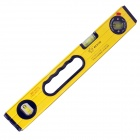 BESTIR BST-01312 Professional 400mm Magnetic Bubble Level Ruler - Yellow + Black + Silver