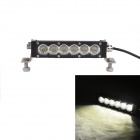 "MZ 6.8"" 30W 2550lm 6000K LED White Flood Beam Worklight Bar 4WD Off-road ATV Driving Lamp"