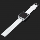 Fashion Square Touch Red LED Silicone Band Wrist Watch - White