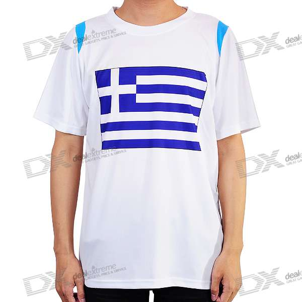 National Football/Soccer Team T-Shirt - Greece (L-Size)