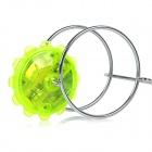 Magnetic Spinning Top Toy w/ LED Light Effect - Green + Silver