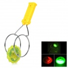 Magnetic Spinning Top Toy w/ LED Light Effect for Kids - Yellow + Silver