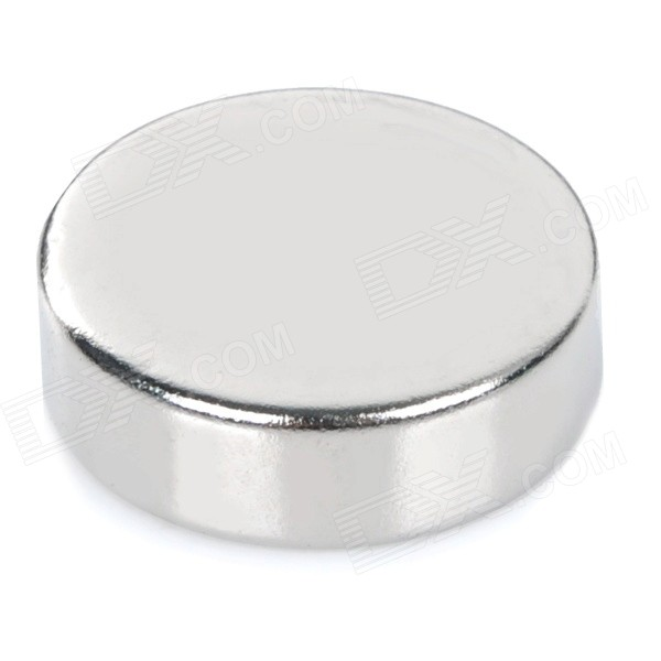 NdFeB N35 Round Magnets - Silver (25*7.85mm)