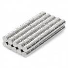NdFeB N35 Round Magnets - Silver (6*6 mm / 100PCS)