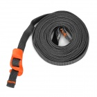 EDCGEAR Outdoor Sports Multi-Function Stainless Steel Tying Band - Deep Grey + Orange