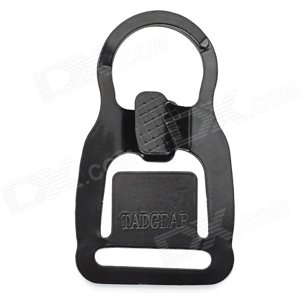 EDCGEAR Multi-Function Outdoor Manganese Steel Hook Buckle - Black