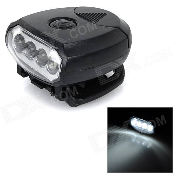 YHX-1000 mini clip-on 25lm 2 modos neutro branco 4-LED cap luz